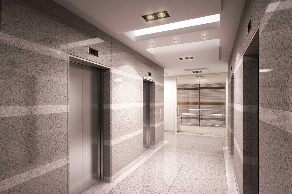 Elevators Hall Typical Floor Tower B
