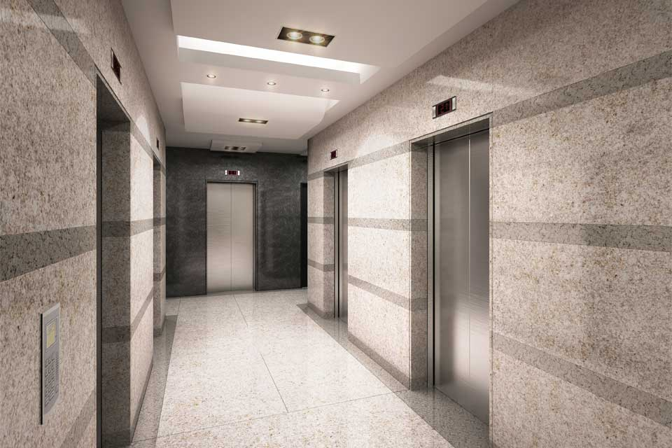 Hall de ascensores, piso típico